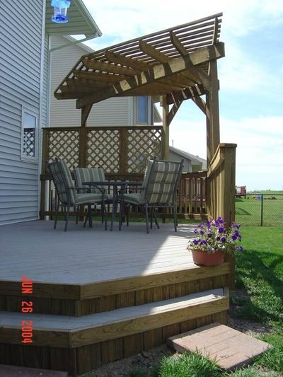 Corner Deck Pergola Porches And Backyards In 2019 Deck