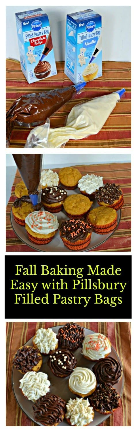 Fall Baking Made Easy with Pillsbury Filled Pastry Bags and delicious Pumpkin Spice Cupcakes!  #DoughboySurprise #ad