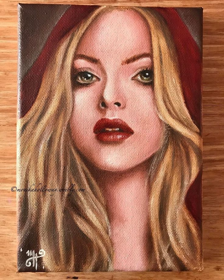 Little Red - oil on canvas, 5x7