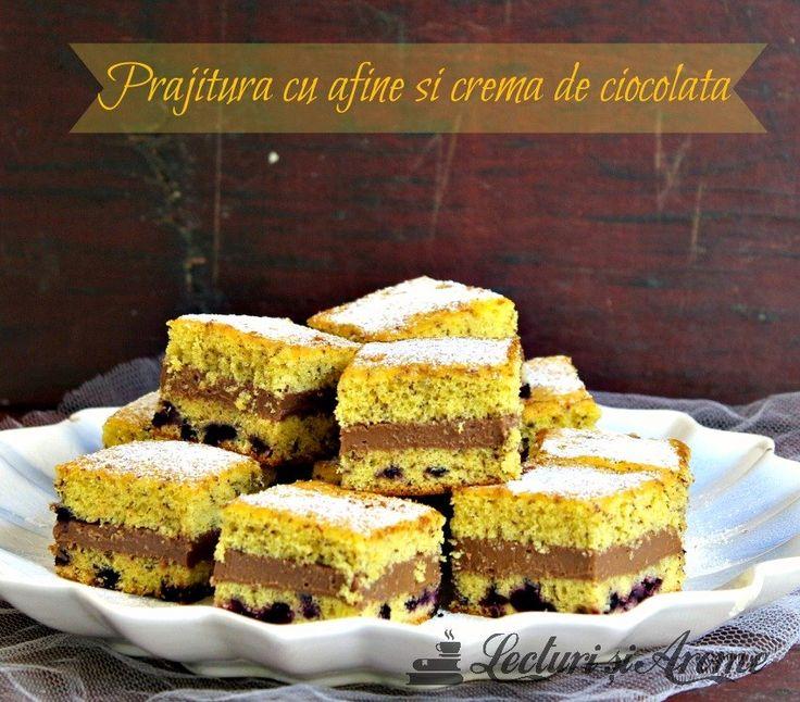 Prajitura cu afine si crema de ciocolata Blueberry and chocolate cream cake