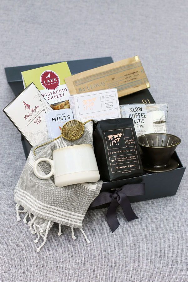 3704ec8ae3c8a Custom Coffee Lover s Gift Box. Create your own gift for the coffee  afficiando on your list with the Pumeli create a gift box builder.