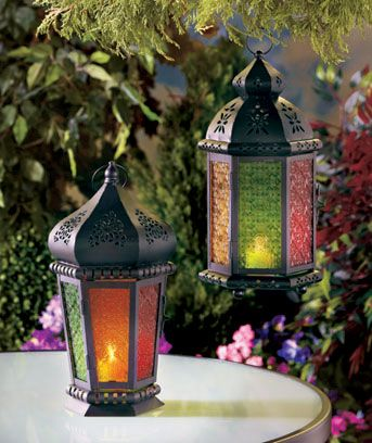Colorful Moroccan Candle Lanterns