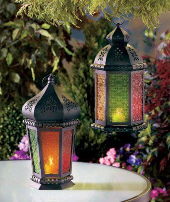 Colorful Moroccan Candle Lanterns: Lámparas Marroquíes
