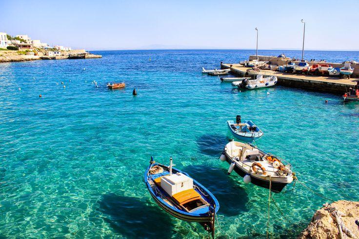 Il nostro weekend inizia qui, nella splendida Isola di #Levanzo #sicily #holiday