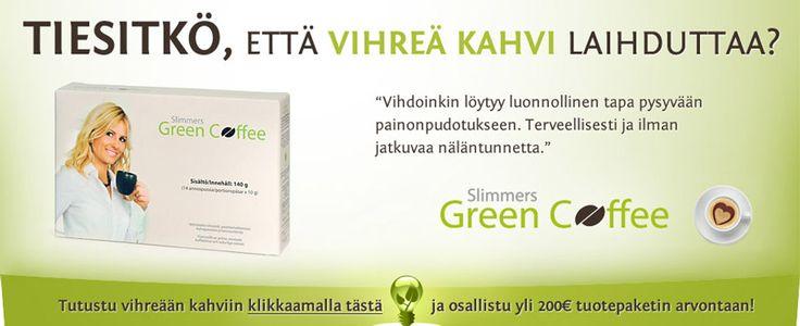 Slimmers Green Coffee -mainos