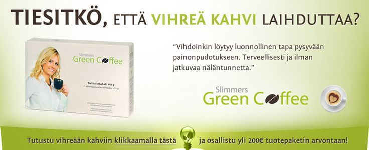 Slimmers Green Coffee -mainos