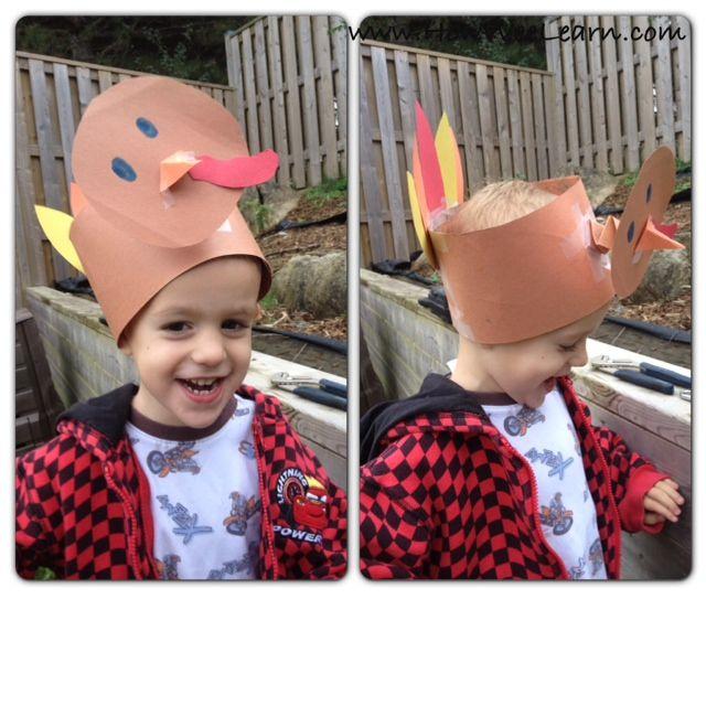 Thanksgiving Crafts for Kids: Bobbling Turkey Hat