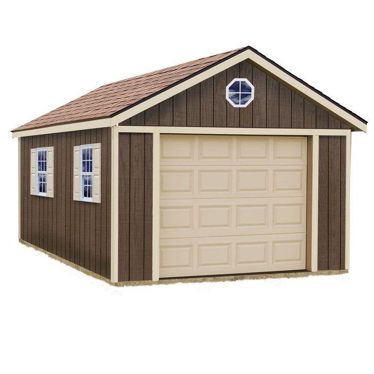 Best Barns Sierra 12 ft. x 16 ft. Wood Garage Kit without Floor-sierra_1216 - The Home Depot