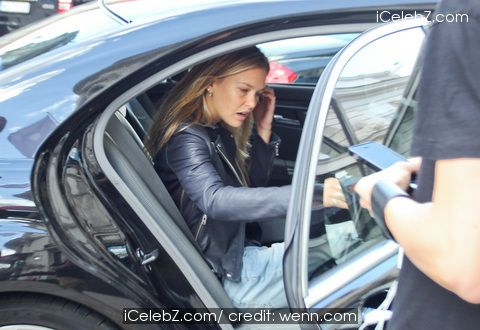 Bar Refaeli Leaving the Hotel Bristol in Warsaw http://icelebz.com/events/bar_refaeli_leaving_the_hotel_bristol_in_warsaw/photo1.html