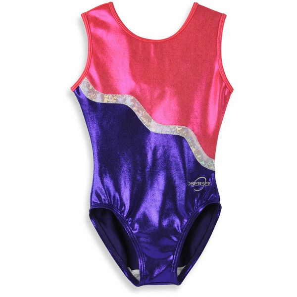 Obersee Kids Gymnastics Leotard in Purple Ribbon ($54) ❤ liked on Polyvore featuring sports