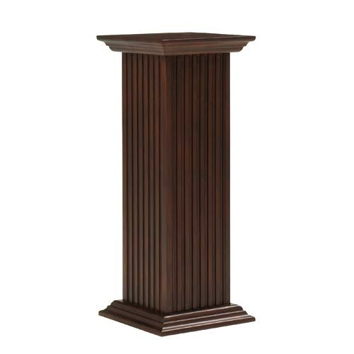 Cooper classics 36 inch square fluted pedestal pedestal for Fluted pedestal base