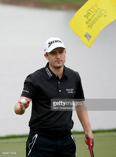 Russell Knox reacts to his putt on the 17th green during the second round of The Honda Classic at PGA National Resort & Spa - Champion Course on February 27, 2015 in Palm Beach Gardens, Florida.