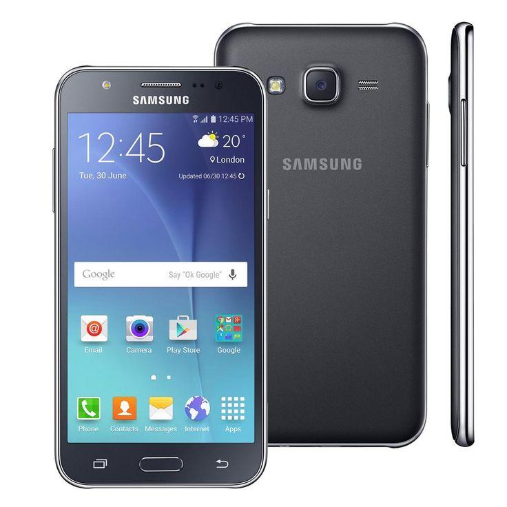 """Smartphone Samsung Galaxy J5 Duos Preto com Dual chip, Tela 5.0"""", 4G, Câmera 13MP, Android 5.1 e Processador Quad Core de 1.2 Ghz   Extra.com.br"""