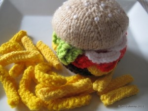 Knitted-big-mac and fries