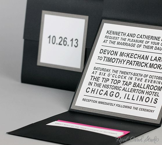 Modern Wedding Invitation by Real Card Studio