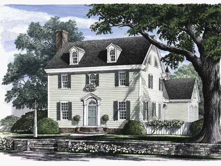 Eplans adam federal house plan kentucky bluegrass for Southern colonial house plans