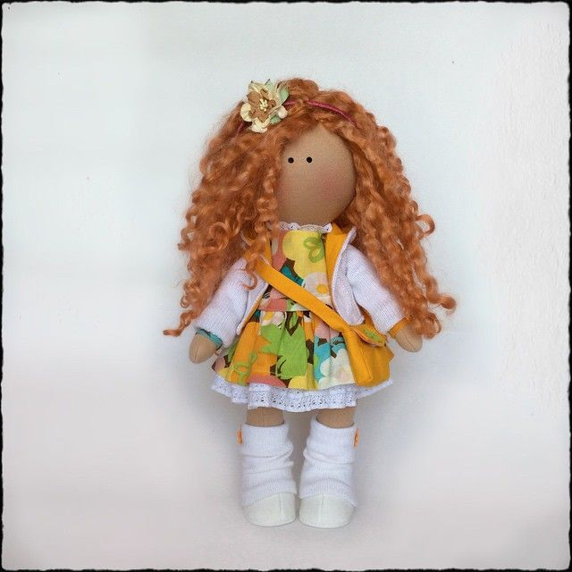 Рыжулька, рост около 40 см #кукла #кукларучнойработы #кукласвоимируками #текстильнаякукла #doll #dolls #handmade #handmadedoll #хендмейд #instagood #cute #tweegram #iphonesia #instamood #followme #happy #photooftheday #picoftheday #love #instagramhub #beautiful