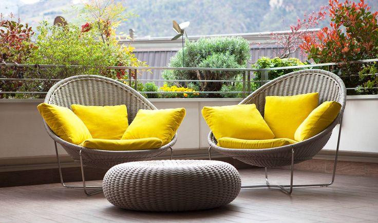 Diseño de sillones para terraza