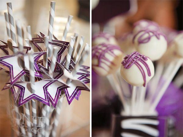 Sencillos adornos de papel para las pajitas / Simple paper decorations for the straws