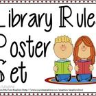 A set of library rules posters that every library needs! Print on a standard printer or plotter, or take to your local print shop!  Set includes: -...