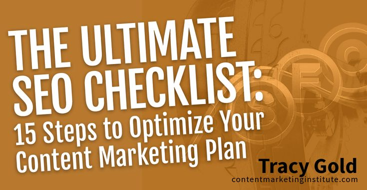 SEO should be a lynchpin in any content marketing plan; but with search engines updating algorithms so frequently, how can a mortal content marketer keep up? Check out this SEO checklist to make sure you're set up for success.