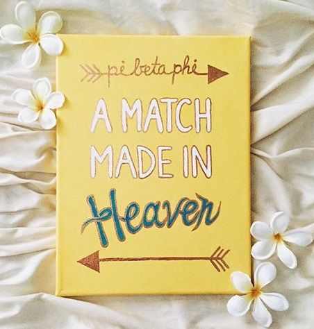 "Pi Beta Phi craft - ""A match made in heaven!"" #piphi #pibetaphi"