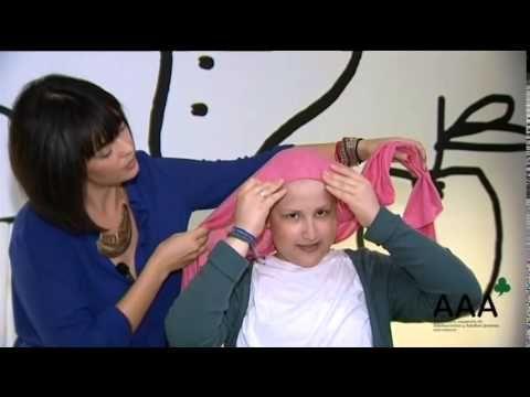 Tutorial de cómo ponerse un pañuelo con mucho estilo durante la quimio. #oncoimagen #cancer #turbantes