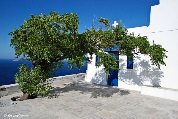 Little church of Panagia Skopiani in Serifos island