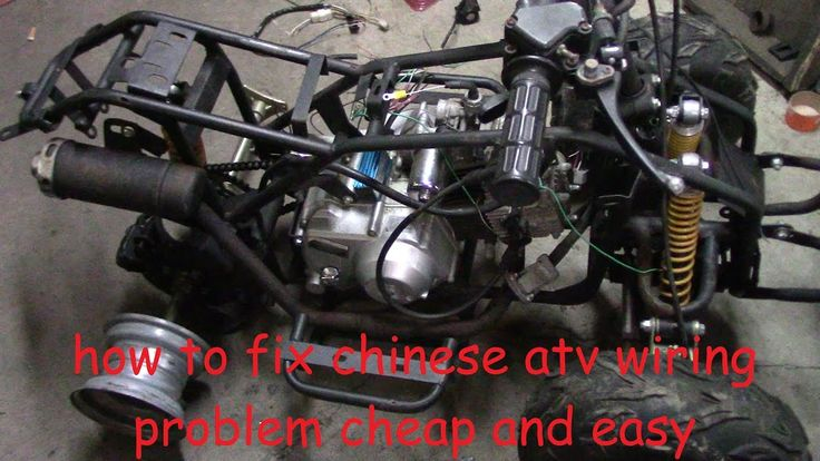 How To Fix Chinese Atv Wiring  No Wiring  No Spark  No