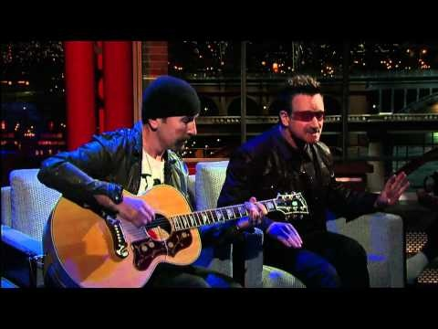 "U2's Bono & The Edge Perform ""Stuck In a Moment"" on David Letterman"