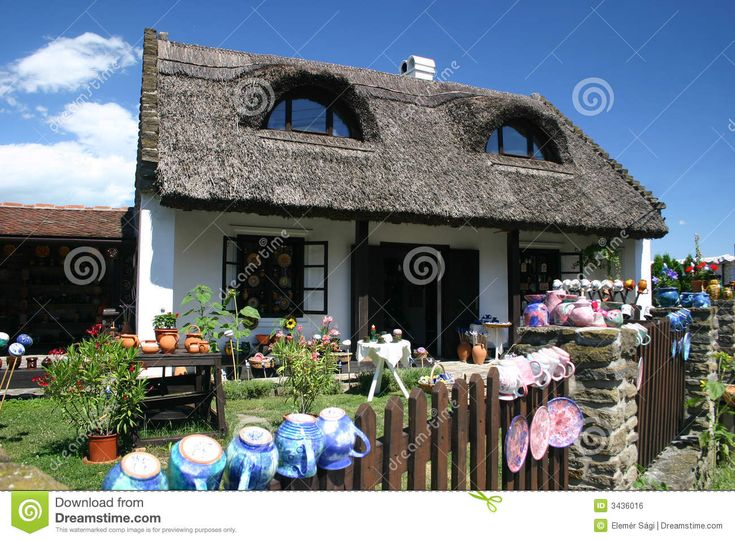 Beautiful Old House With Thatched Roof In Tihany Hungary Quaint Lines Help Define An Idyllic Cottage Design