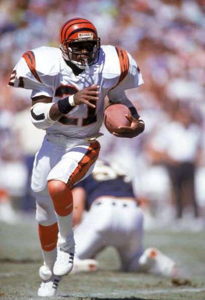 Running back James Brooks of the Cincinnati Bengals