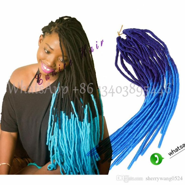 Crochet Dreadlock Extensiosns Dread Lock Hair Crochet Ombre Dreadlocks Braiding Hair For Women and Kids
