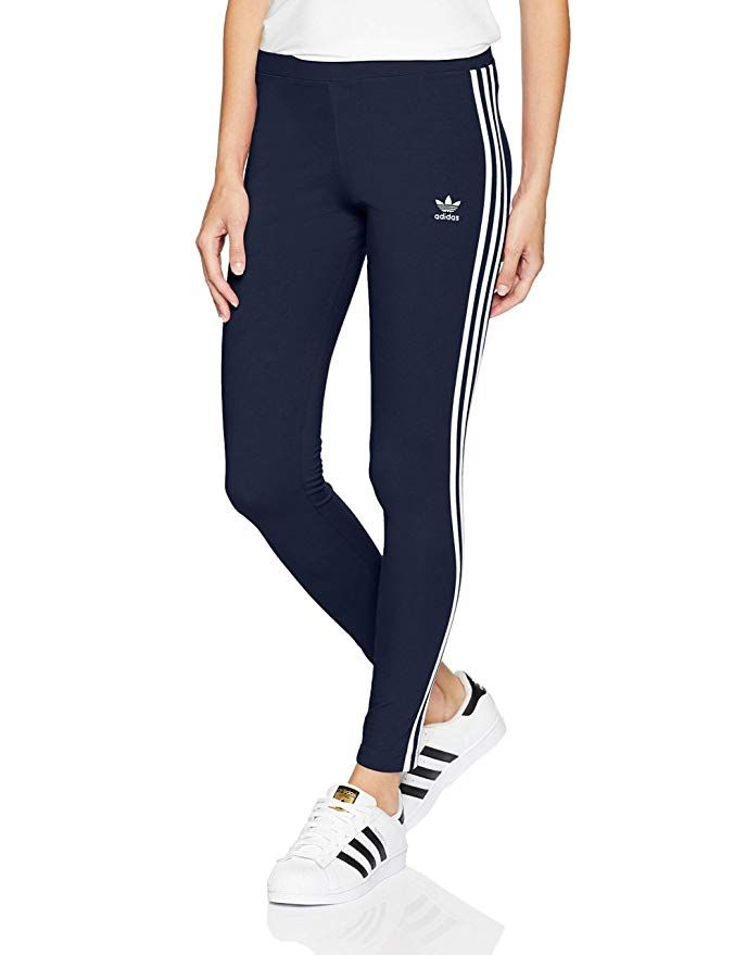 56e0b600fd81a adidas Originals Women's 3-Stripes Leggings at Amazon Women's Clothing store:  Large
