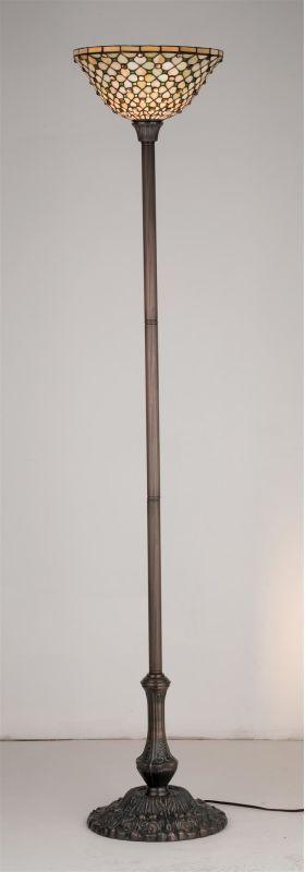 meyda tiffany stained glass tiffany torchiere lamp from the diamond u0026 je mahogany bronze