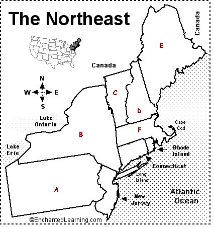 Image Result For Map Of Northeastern Us States