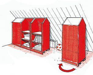 schr nke auf rollen dachschr ge schrank pinterest. Black Bedroom Furniture Sets. Home Design Ideas