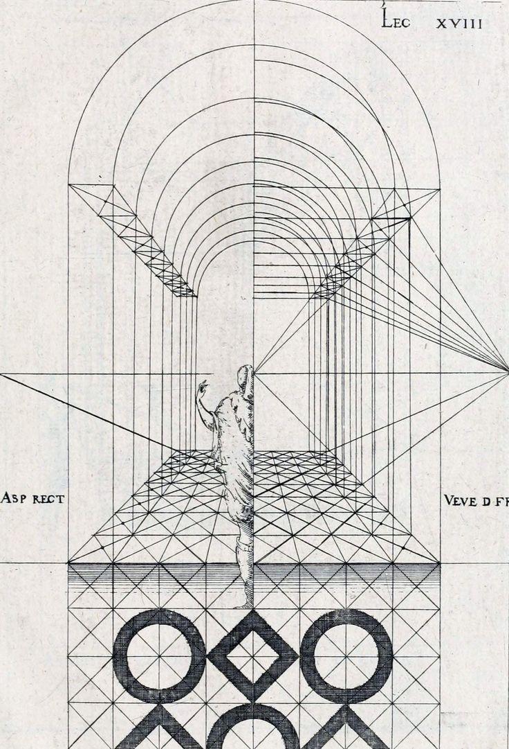 Jacques Androuet du Cerceau - Leçons de perspective positive (1676).