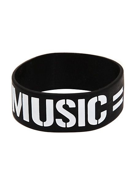 Music = Love Rubber Bracelet | Hot Topic