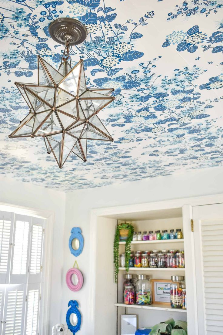 How To Make Your Own Rent Friendly Removable Wallpaper Removable Wallpaper For Renters Wallpaper Ceiling How To Hang Wallpaper