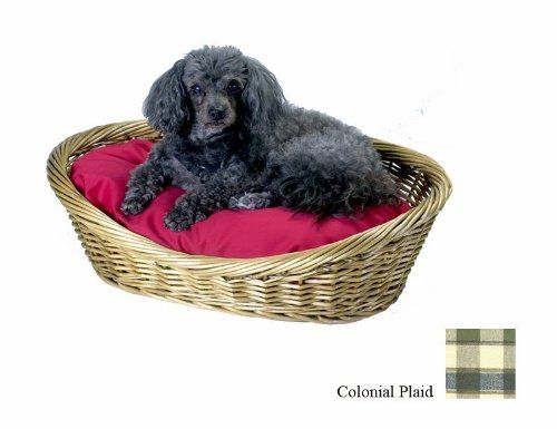 Snoozer Wicker Dog Basket and Bed, Small, Colonial Plaid - The perfect Pet Supplies for your devoted Dogs...   « DogSiteWorld-Store