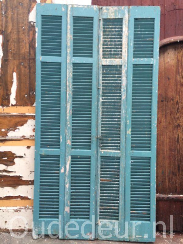 nr. L143 4 gelijke oude louvre deuren
