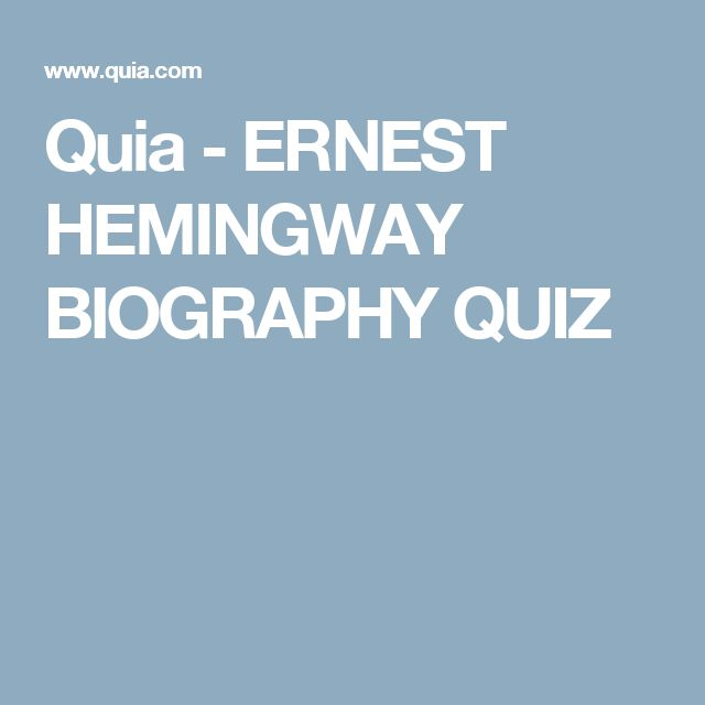 an analysis of the autobiography on ernest hemingway The old man and the sea is a short novel written by the american author ernest hemingway in 1951 in cuba, and published in 1952 it was the last major work of fiction.