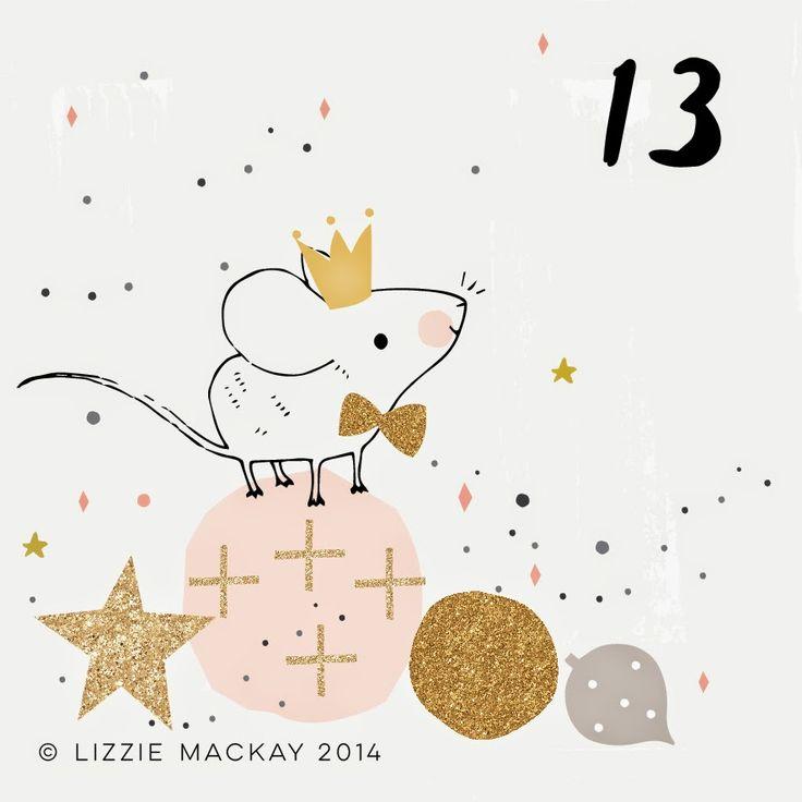 Les jolies choses de Noël #12 / Les illustrations de l'Avent de Lizzie Mackay /   ATELIER RUE VERTE le blog