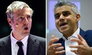 Composite of Conservative London mayoral candidate Zac Goldsmith (left) and…