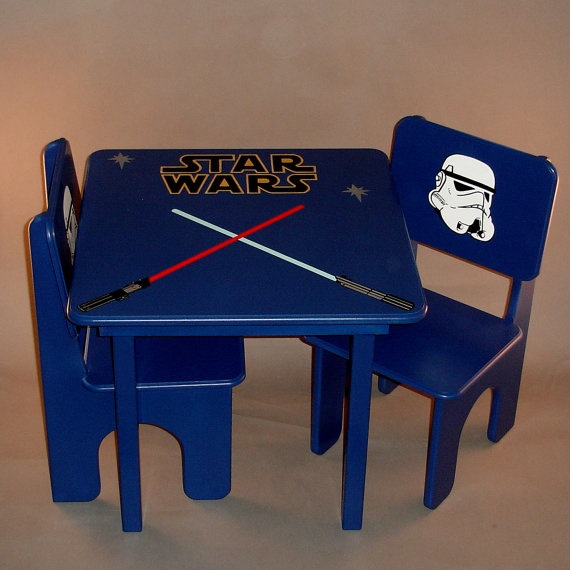 star wars table and chair set for kids by greatcustomfurniture star wars themed. Black Bedroom Furniture Sets. Home Design Ideas