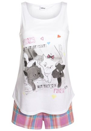 Disney Aristocats Shorts Pyjamas