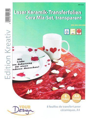 Your Design 8 Cera Mia Keramik-Transferfolien DIN A4 transparent f - k chenschrank mit sp le