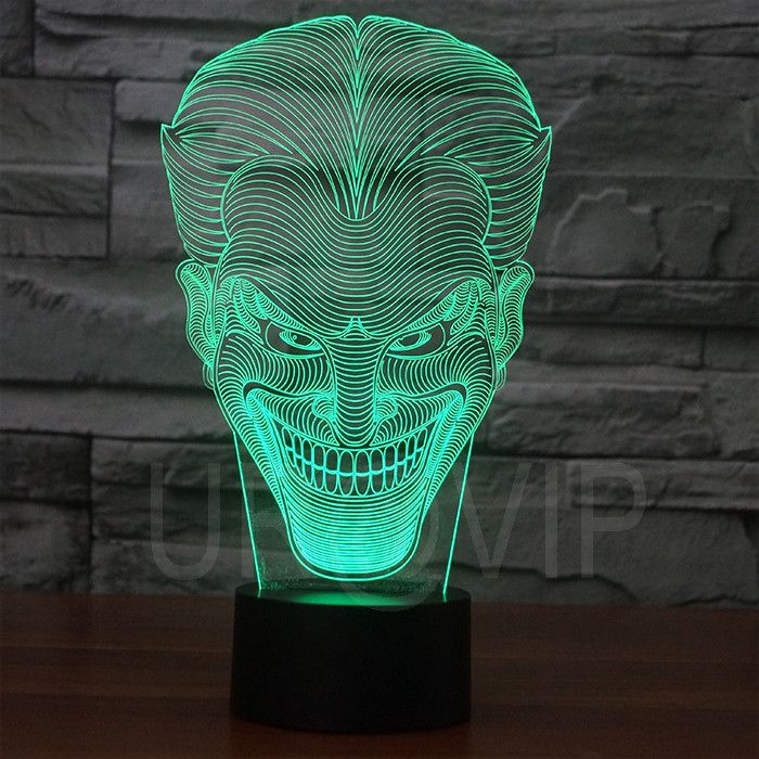 Joker 3D Illusion LED Bulbing Table Lamp Night Light