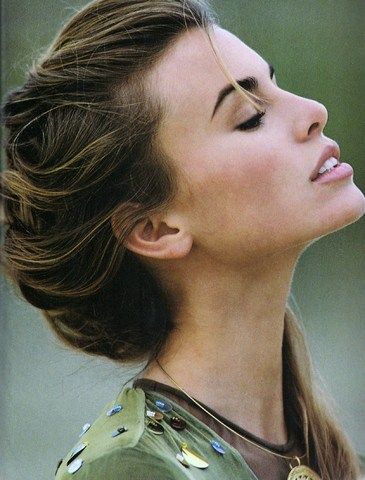 "US ELLE April 1992 ""Handle with Care"" Model: Nikki Taylor Photographer: Gilles Bensimon Stylist: Nathalie Cezilly"